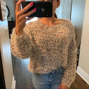 Cozy cropped sweater size SMALL